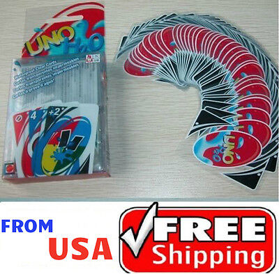 New Family Fun #1 UNO H2O Waterproof Clear Game Playing Plastic Card ❶USA❶ for sale  Shipping to Nigeria