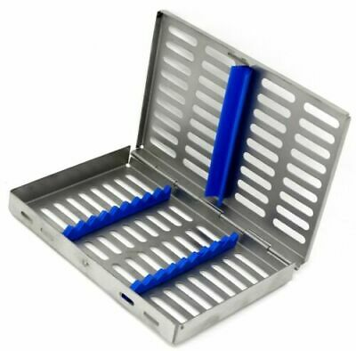 Dental Surgical Autoclave Sterilization Cassette Rack Box Tray For 10 Instrument