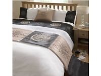 DE CAMA TIGRA BLACK GOLD LUXURY DUVET COVER QUILT BED IN A BAG 5 PIECE SET Double FREE Local Deliver
