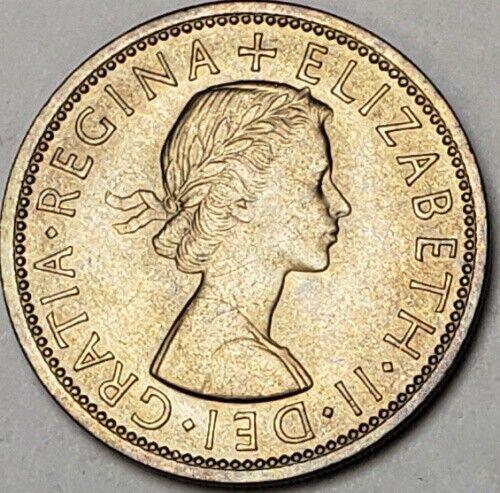 1967 GREAT BRITAIN 2 SHILLING/FLORIN BU UNC ELIZABETH II LIGHTLY TONED COIN