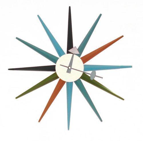 Starburst Wall Clock Ebay
