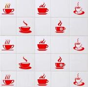 Red Tile Stickers