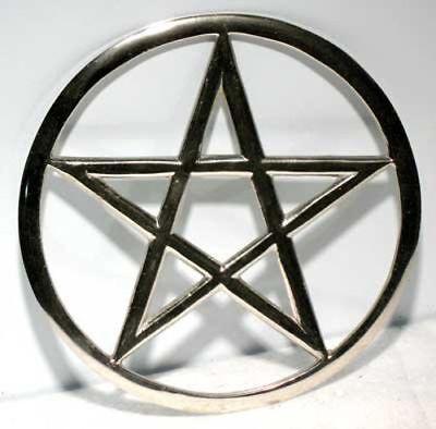 Cut-Out Pentagram Altar Tile or Wall Decor 5.75