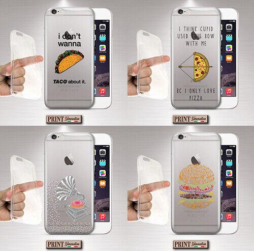 Cover für LG,Futternapf,Silikon,Weich,Fast Food,Transparent,Kringel,Sprüche