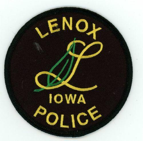 IOWA IA LENOX POLICE NEW SHOULDER PATCH SHERIFF
