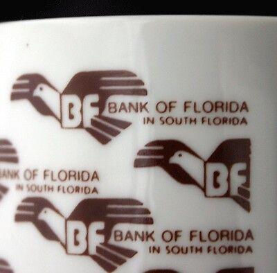 Vintage BANK OF FLORIDA South Miami Advertising Mug 80s