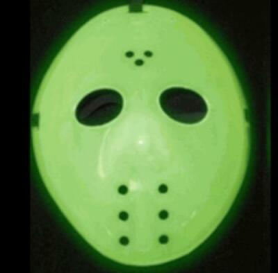 UV Glow in Dark Hockey Halloween Mask Jason Friday 13th