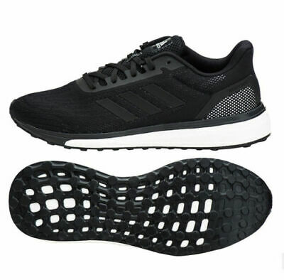 ADIDAS MENS RESPONSE BOOST BLACK RUNNING TRAINERS ALL SIZES FROM 6 TO 10.5  £89