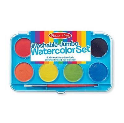 Jumbo Watercolor Set - Jumbo Watercolor Paint Set 8 Colors by Melissa & Doug Fast Free Shipping
