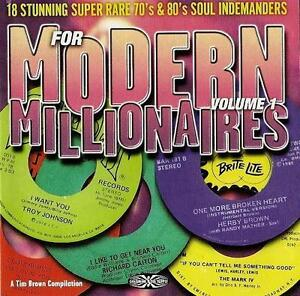 FOR MODERN MILLIONAIRES Various Artists NEW NORTHERN SOUL CD (GOLDMINE) 70s 80s