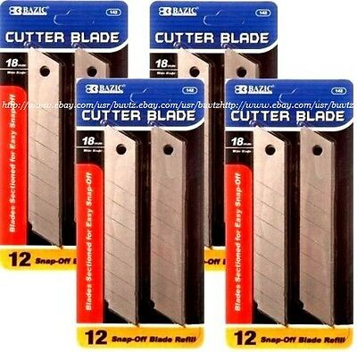 48 pcs Cutter Blade 18mm Snap Off Box Utility Knife Razor Refill Replacement T17 Snap Off Blade Box Cutter