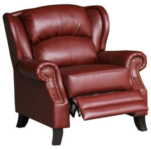 Burgundy Leather Chair | EBay