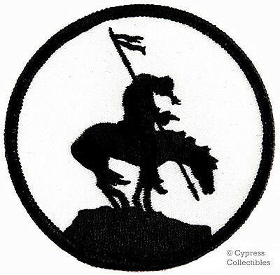 END OF THE TRAIL iron-on embroidered PATCH HORSE SYMBOL