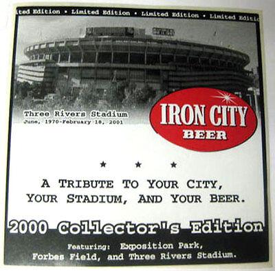 IRON CITY BEER Three Rivers Stadium Beer STICKER Label 2000 Collectors's Edition