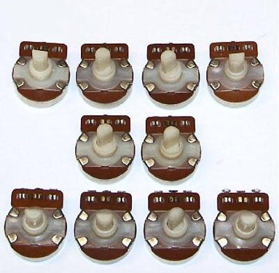 Insulated Nylon Plastic Shaft Pot Nos Vintage 500 Ohm Radio Potentiometer 10 Pcs