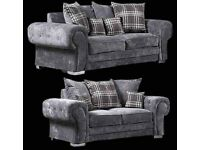 Brand New VERONA Grey Corner Sofa ON SALE WITH HOME Delivery