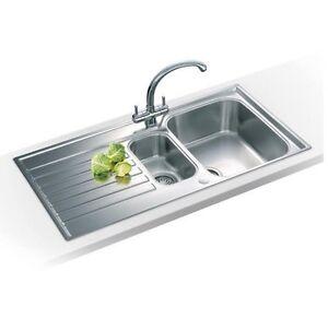 Franke Ascona Sink : Franke-Ascona-ASX651-Reversible-1-5-Bowl-Inset-Stainless-Steel-Kitchen ...