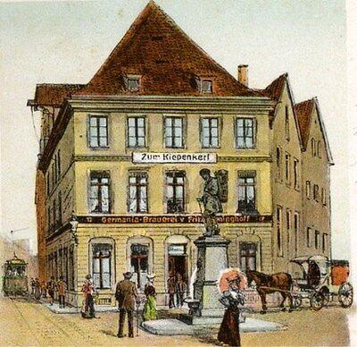 Germania-Brauerei F. Dieninghoff AG Münster histor. Aktie 1928 Bier / Kiepenkerl
