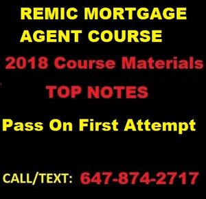 Remic Mortgage Agent Exam Study Guide (Sent in under 1 Hour)
