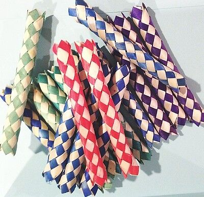 LOT OF 50 CHINESE FINGER TRAPS fingercuff handcuff toys party favor carnival new