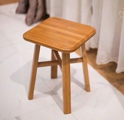bamboo wooden stool rest stool fishing stool Square bamboo stool vase base 竹凳 Bamboo Square Bar Stools