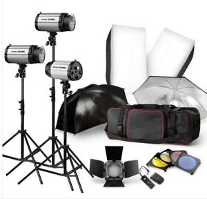 Professional Studio Lighting Kit 750W Studio Flash/Strobe Light Kit