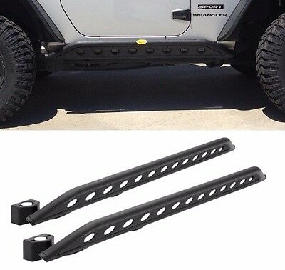 Heavy Duty Rocker Guards - Smittybilt SRC Wheel To Wheel Rocker Guards 2007-2018 2dr Jeep Wrangler JK 76645
