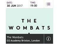 Wombats Tickets x2 Brixton O2 Academy Fri 30th June