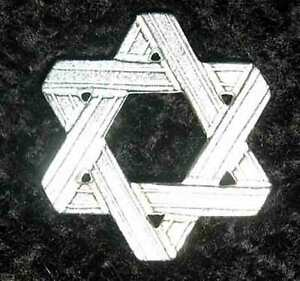 10-Star-of-David-w-bags-Lead-Free-Pewter-Pocket-Tokens