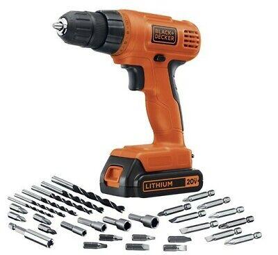 - BRAND NEW BLACK+DECKER LD120VA 20-Volt Max Drill w 30 Accessories FREE SHIPPING