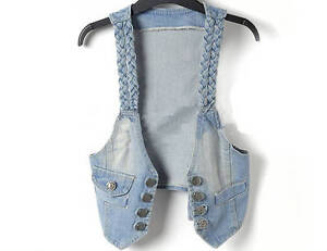 Women-Fashion-Trendy-Vintage-Casual-Blue-Jean-Denim-vest-Shirt-Top-jacket-New