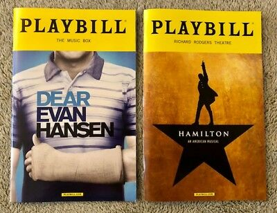 Dear Evan Hansen AND Hamilton playbill *Discounted*(Read details) Both playbills