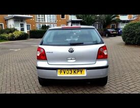 Urgent sale volkswagen polo 1.2 2003 manual 3 door hatchback.