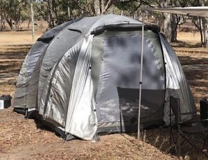 Camping gear tents, stretcher, coolers, table, battery box