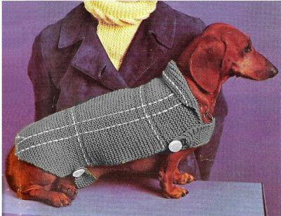 A Vintage Knitting Pattern Instructions Pet K9 Dog Cat Sweater Coat Blanket XIII