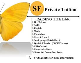 11+, 11 plus, tuition, primary, SAT, English, KS2, Maths.