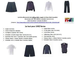 Lot de vêtements usagés du Collège NDL à vendre
