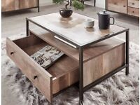BRAND NEW Industrial Style Coffee Table with storage *OPEN TO OFFERS*