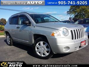 2007 Jeep Compass Sport | 121Km | SAFETY & E-TESTED