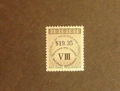 Trinidad & Tobago $19.35 National Insurance Stamp Mint Never Hinged F-VF