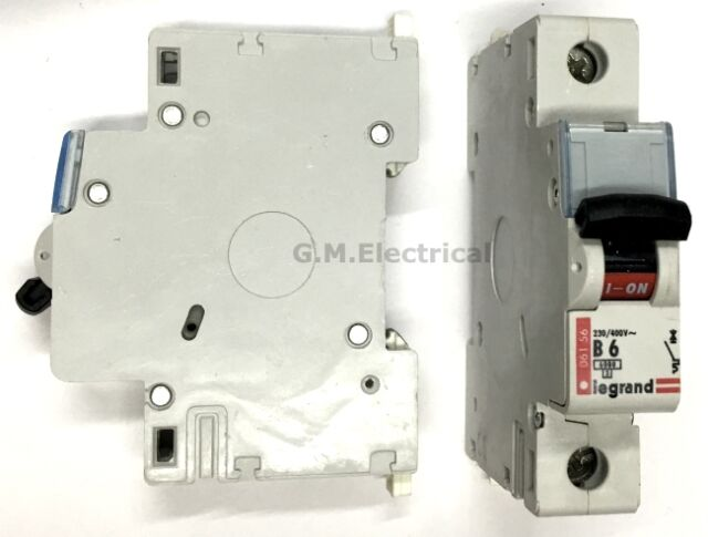 LEGRAND 6 AMP TYPE B 6A MCB SINGLE POLE CIRCUIT BREAKER 061 56 TENBY B6 6000