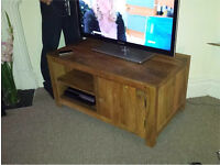 Chunky Solid wood, mango TV cabinet