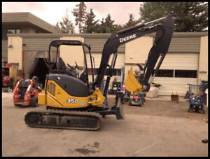 3.5 ton Excavator for rent