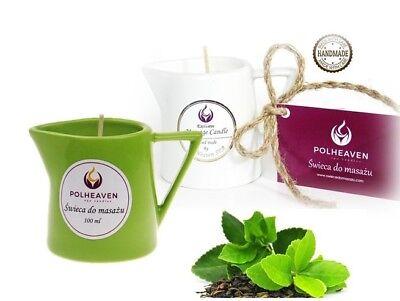 Massage-lotion (Massagekerze Massagelotion Öl Creme Massage Kerze Spa Candle Wellness Grün 100)