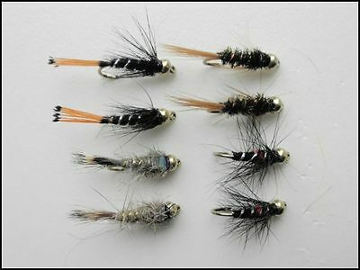 8 Aylotts Nymph Trout Fly Fly Fishing Fishing Flies Mixed Size 10//12//14