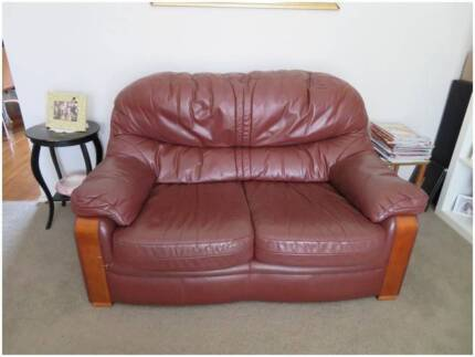 3-piece Janda genuine quality leather lounge suite Port Stephens