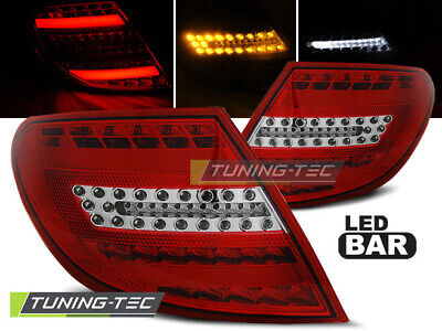 Lightbar LED Rückleuchten Set Mercedes Benz C-Klasse W204 2007 - 2011 rot/klar