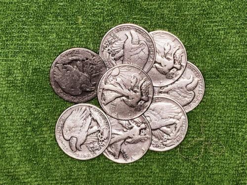 Walking Liberty Half Dollars, 90% Silver Coins, Circulated