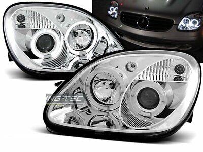 Scheinwerfer für Mercedes R170 SLK 1996-2004 Standlichtringen Chrom DE LPME14-ED