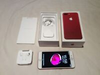 iphone 7 plus 128GB Limited Edition Red Unlocked to all Networks